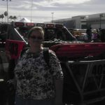 Denise poses with a truck entry to the Baja1000.