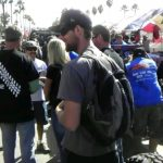 Lots of people were at the Baja 1000 festival.