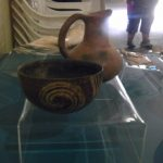 Some Mayan pottery on exhibit.