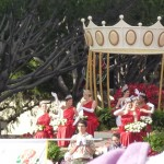 I am including this picture as a comparison. It looks like Miss Rose Parade has a bit more funding.