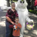 Never can go wrong with a picture with a person in a huge bunny suit.
