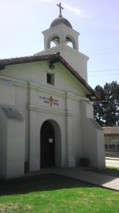 The Santa Cruz Chapel is a 1/2 size replica of it's former self.