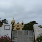 The beautiful gates of  the San Carmel Mission