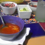 The tortilla soup was really yummy.