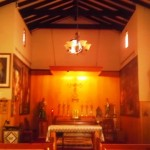 A look to the inside of the Santa Ysabel Chapel.