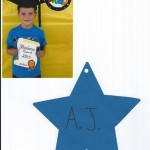 AJ's star and diploma picture.