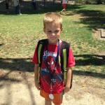 AJ leaving Madison Elementary for summer break.