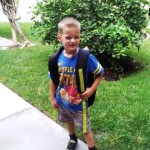 AJ's first day of kindergarten.