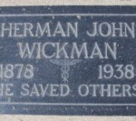 The grave of Herman John Wickman (1878-1938) in Evergreen Memorial.