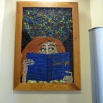 A tile mosaic inside the New Marcy Branch Library.