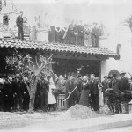 President Roosevelt planting one of the Tibbets trees on May 8, 1903 at the Mission Inn.
