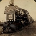 A picture of President Roosevelt's 1903 campaign train.