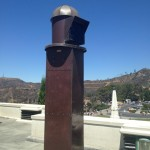 This solar telescope focuses in light and provides really detailed pictures of the mountain range.