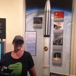 This was the first US rocket to make orbit. It is full scale. As you can see, it wasn't very big.
