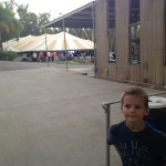 Going to a worship service in a big tent was different for us.
