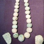 A full Mayan jade necklace.