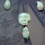 These jade pieces are Olmec and probably the oldest pieces of jade carved in Belize.