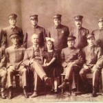 This 1915 portrait of the Riverside Police Department features Chief Kirk, his daughter, and the rest of the department.