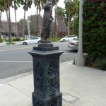 """The Temperance Water Fountain was donated to the City of Riverside in 1907 by the Women Temperance Society in an effort to promote clean water. The drinking fountain part has been removed, but if you look close you can still see where the pipes were and at the bottom there are """"doggy bowls""""."""