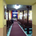 A view towards the altar from the back.