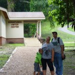 The family at the Xunantunich Visitor Center.