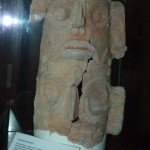 This clay pot was excavated at the site.