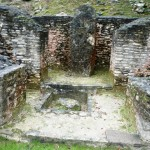 This room was used for spiritual cleansing. The petitioner would start a fire in the pit, pray to the stella, and then bathe in the ashes.