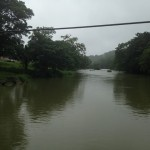 Crossing the Mopan River.