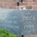 The YMCA cornerstone.