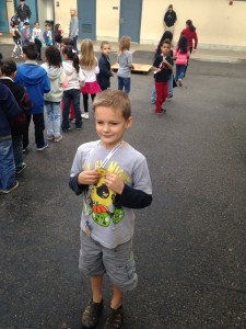 AJ with his reading award.