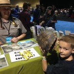 AJ guessing turtle ages with a National Park Ranger from Joshua Tree.