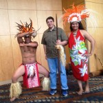 I enjoyed talking to these dancers from the Islands.