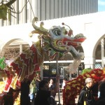 A good luck dragon made it's way through the parade.