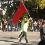 A Chinese exchange student in the parade.