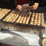 Watching how they make Takoyaki is always interesting.