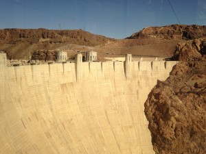 There is a lot of concrete in the Hoover Dam.