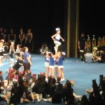 The cheerleaders were very good about watching and respecting the other teams while they performed.
