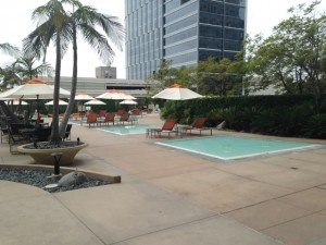 The Century Plaza Hotel was very trendy looking with these 1 foot deep lounging pools.