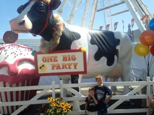 "The theme for the fair was ""One Big Party"". We brought along AJ's friend who got in for free."