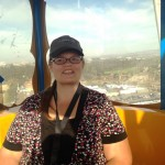Denise riding the La Grande Wheel.