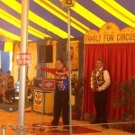 Saw a little family circus at the fair.