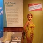 Marilyn Monroe in her famed gold swimsuit.
