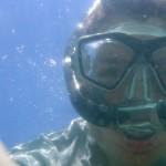 John snorkeling.