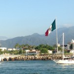 You know your at a Mexican port if there is a big flag.