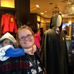Denise enjoyed the Harry Potter merchandise.