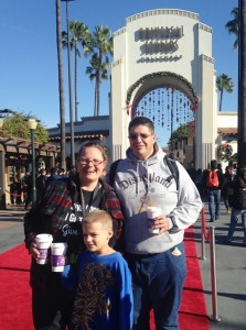 "The Hot Chocolate family at Universal Studios ""the entertainment capitol of L.A."""