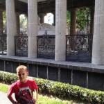 AJ checking out Benito Juarez's tomb.