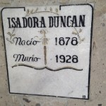 The Mexico tombstone of Isadora Duncan