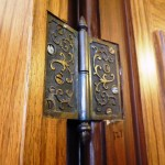 Loved how they were able to reuse the door hinges when they remodeled.