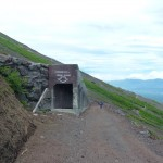 These concrete structures are meant for you to run inside and shelter in the case of a avalanche.